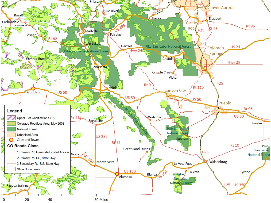 Maps  Colorado Deserves More - Map of us national forest