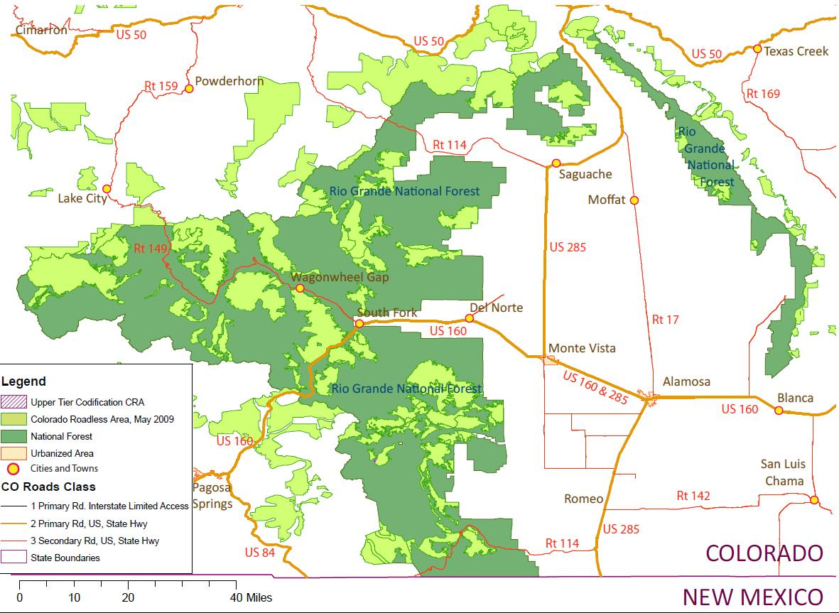 map of rio grande national forests