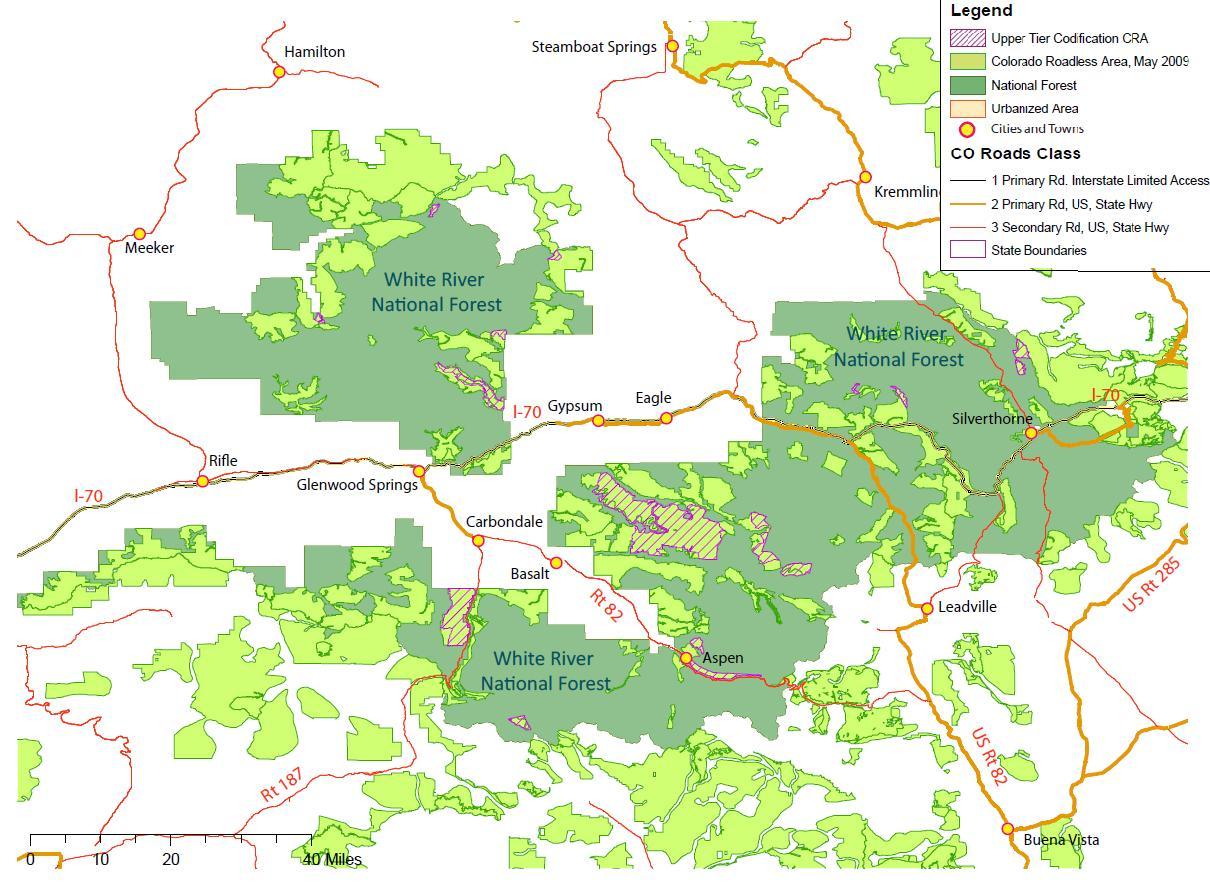 White River National Forest Map Compressportnederland